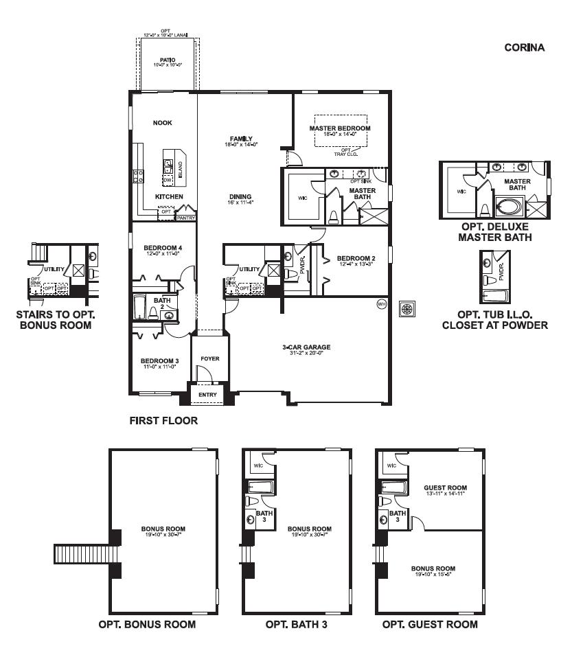 Versailles Sanford FL Floorplans - Corina