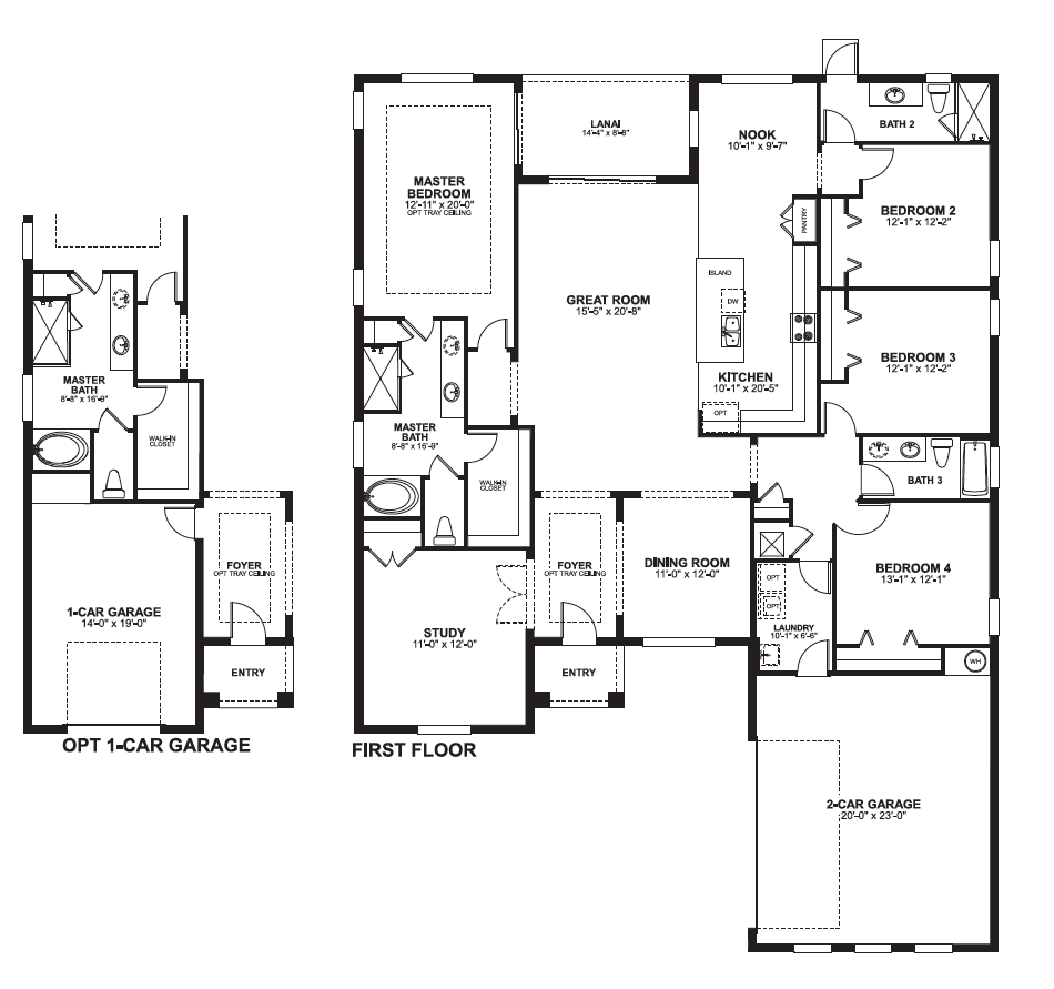 Versailles sanford floorplans versailles sanford for Master floor