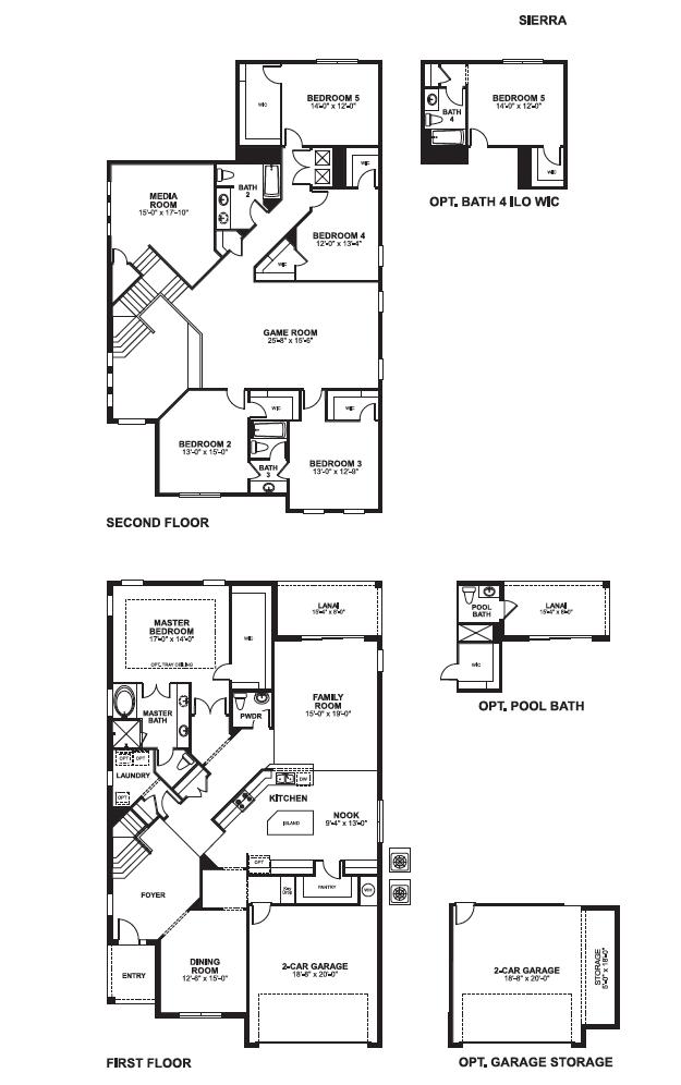 Versailles Sanford FL Floorplans - Sierra